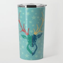 Colorful Stag (Red, Yellow, Green, Blue) Travel Mug