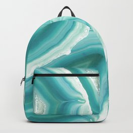 Geodes in Turquoise Crystal Backpack