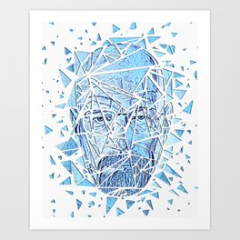 Mr White  Art Print