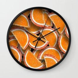 Sugar lemon wedges Wall Clock