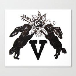 V letter Victoria Canvas Print
