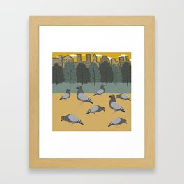 Pigeons Day Out Framed Art Print