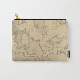 Vintage Map of Pearl Harbor HI (1907) Carry-All Pouch