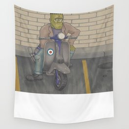 Frankenstein Scooter Wall Tapestry