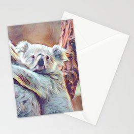 Painted Koala Baby Stationery Cards