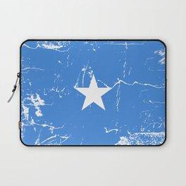 Somalia flag with grunge effect Laptop Sleeve