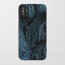 Navy Night Sky Sparkle Hand Spun Yarn iPhone Case