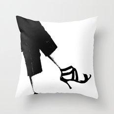White Wall Throw Pillow