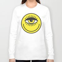 cyclops Long Sleeve T-shirts featuring CYCLOPS by Wesley Bird