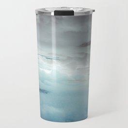 Glacier Painted Clouds Travel Mug