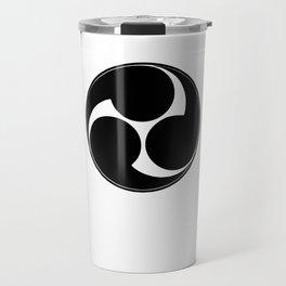 TAIKO MITSUDOMOE BLACK GRAPHIC print Travel Mug