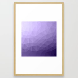 Ultra violet purple geometric mesh Framed Art Print