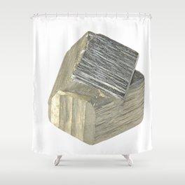 Pyrite piece Shower Curtain