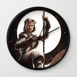 I'll kick you butt and steal your food Wall Clock