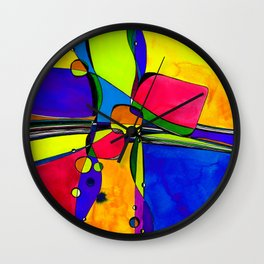 Magical Thinking No. 8A by Kathy Morton Stanion Wall Clock