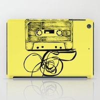 tape iPad Cases featuring K7 TAPE by Vickn