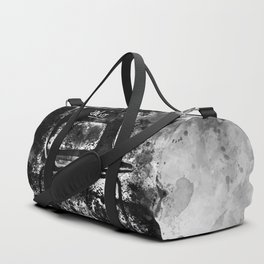 chair at lost place splatter watercolor black white Duffle Bag