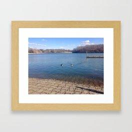 Lake Shawnee Framed Art Print