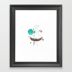 VACANCY Zine - Outer Space Breakfast Framed Art Print