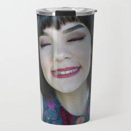 Smiling Saskia Wrycroft Travel Mug