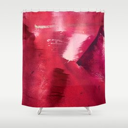 Between Heartbeats [3]: a vibrant abstract piece in a variety of reds by Alyssa Hamilton Art Shower Curtain