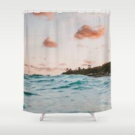 summer sunset iv Shower Curtain