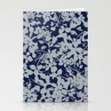 Blue and Grey Floral Pattern - Broken but Flourishing by afrancinedesign