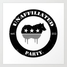 Unaffiliated Party Badge Art Print