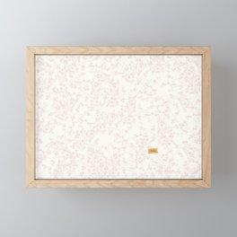 White Cherry-Blossom Framed Mini Art Print