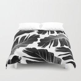 Tropical Black Banana Leaves Dream #1 #decor #art #society6 Duvet Cover