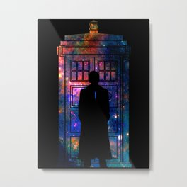 Space Tardis 10th Doctor Metal Print