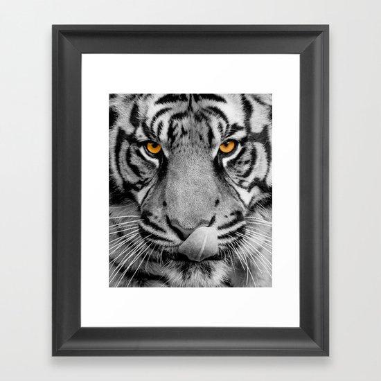 TIGER PORTRAIT Framed Art Print