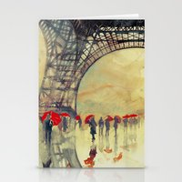 takmaj Stationery Cards featuring Winter in Paris by takmaj