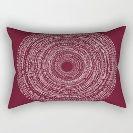 BOHO SPIRAL RED Rectangular Pillow