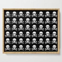 Skull and XBones in Black and White Serving Tray