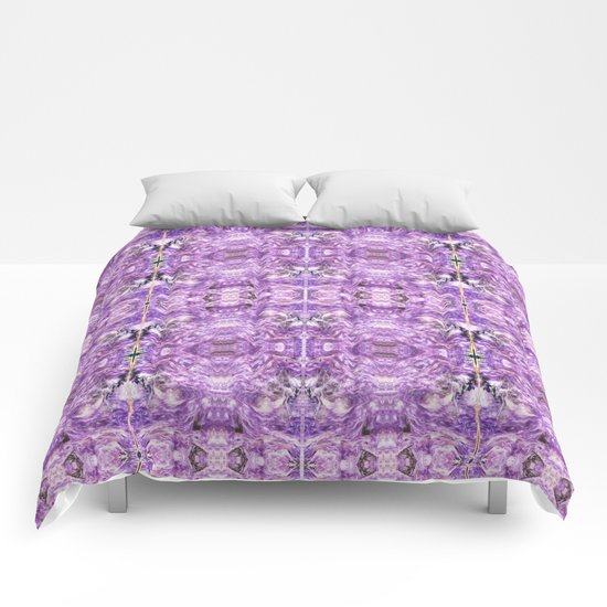 lilac stone flower Comforters