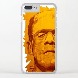 The creature - orange Clear iPhone Case