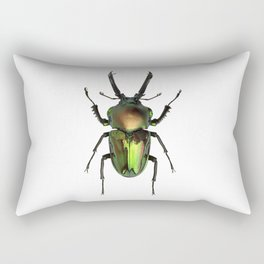 Rainbow Stag Beetle Rectangular Pillow