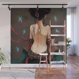 Geisha de dos. Wall Mural