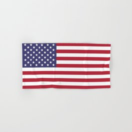 USA flag - Hi Def Authentic color & scale image Hand & Bath Towel