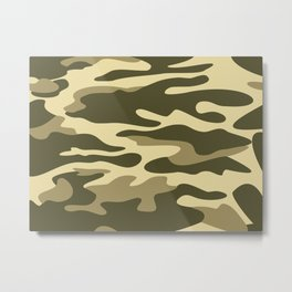 Military camouflage Metal Print