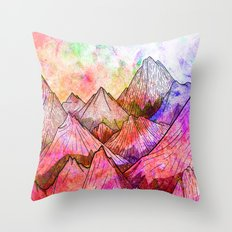 Peaks of Colours Throw Pillow