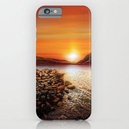 Idwal Lake Sunset iPhone Case