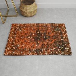 N151 - Orange Oriental Vintage Traditional Moroccan Style Artwork Rug