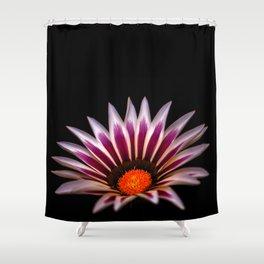 Big Kiss White Flame Flower Shower Curtain