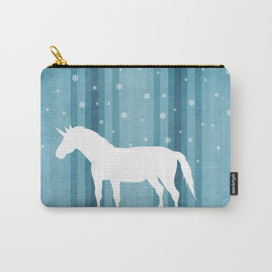 Winter Falls Unicorn Carry-All Pouch