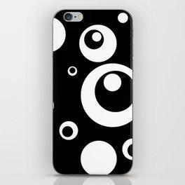 Circles Dots Bubbles :: Black Pepper iPhone Skin