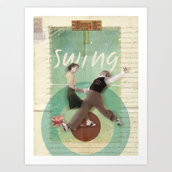 Swing Dance Art Print