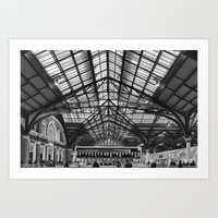 liverpool Art Prints featuring Liverpool Station by West of East