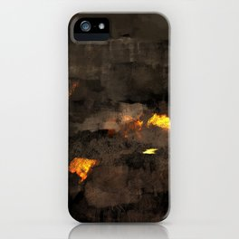 Abstract landscape nature texture lava fire geology digital illustration iPhone Case